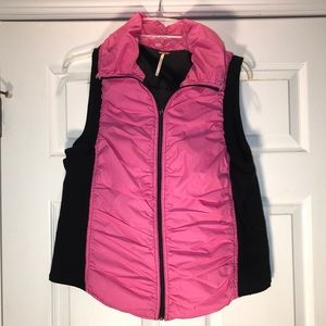 Free People Pink Puffy Sweater Vest